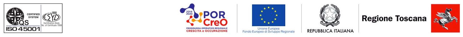 loghi ISO45001 | PorCreO | Unione Europea | Repubblica Italiana | Regione Toscana |