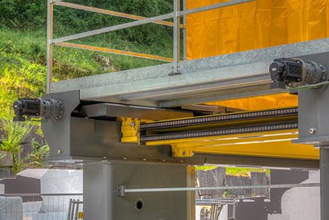 motori brushless per movimento verticale piattaforma
